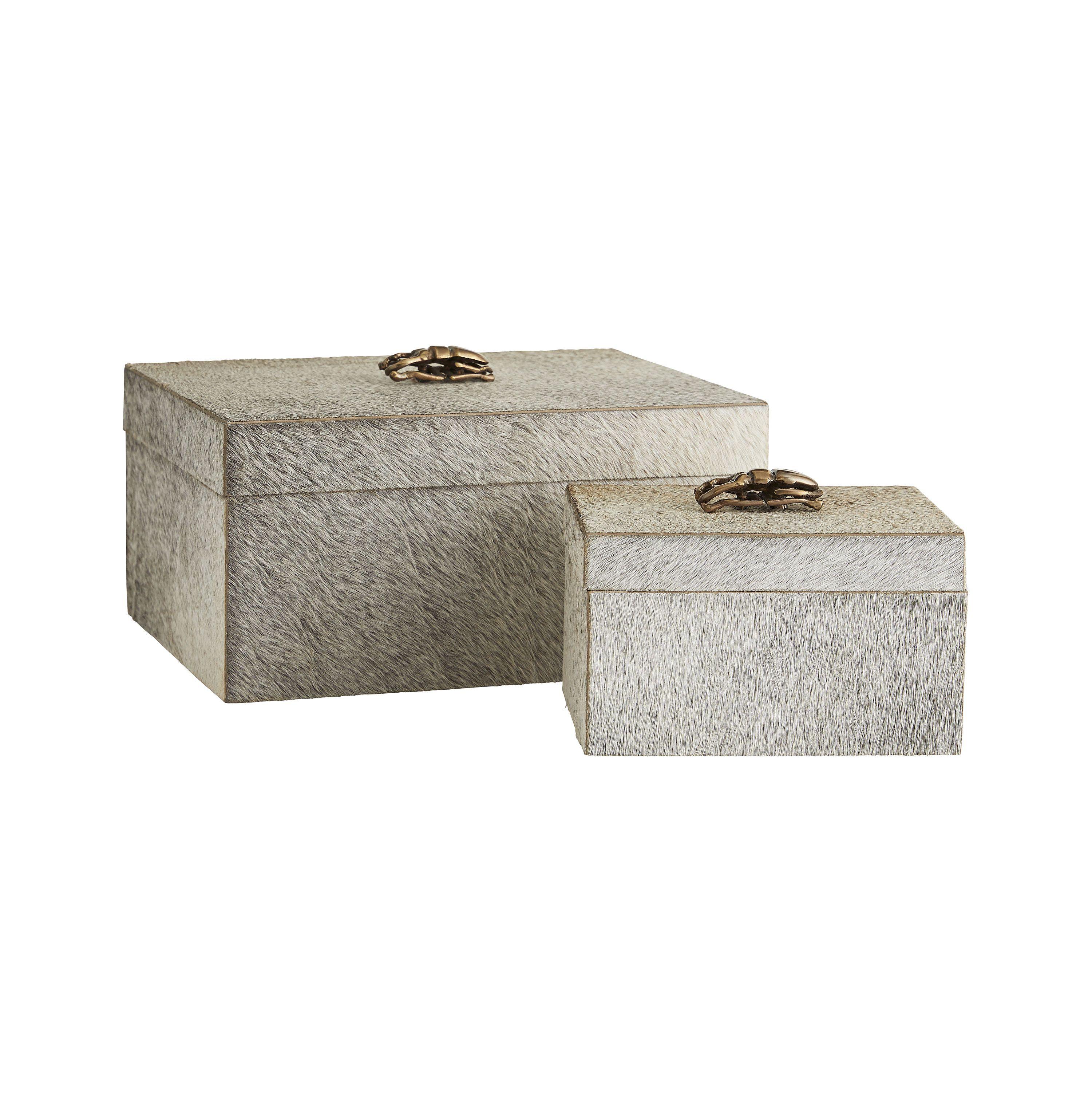 Lola Rectangular Boxes, Set of 2