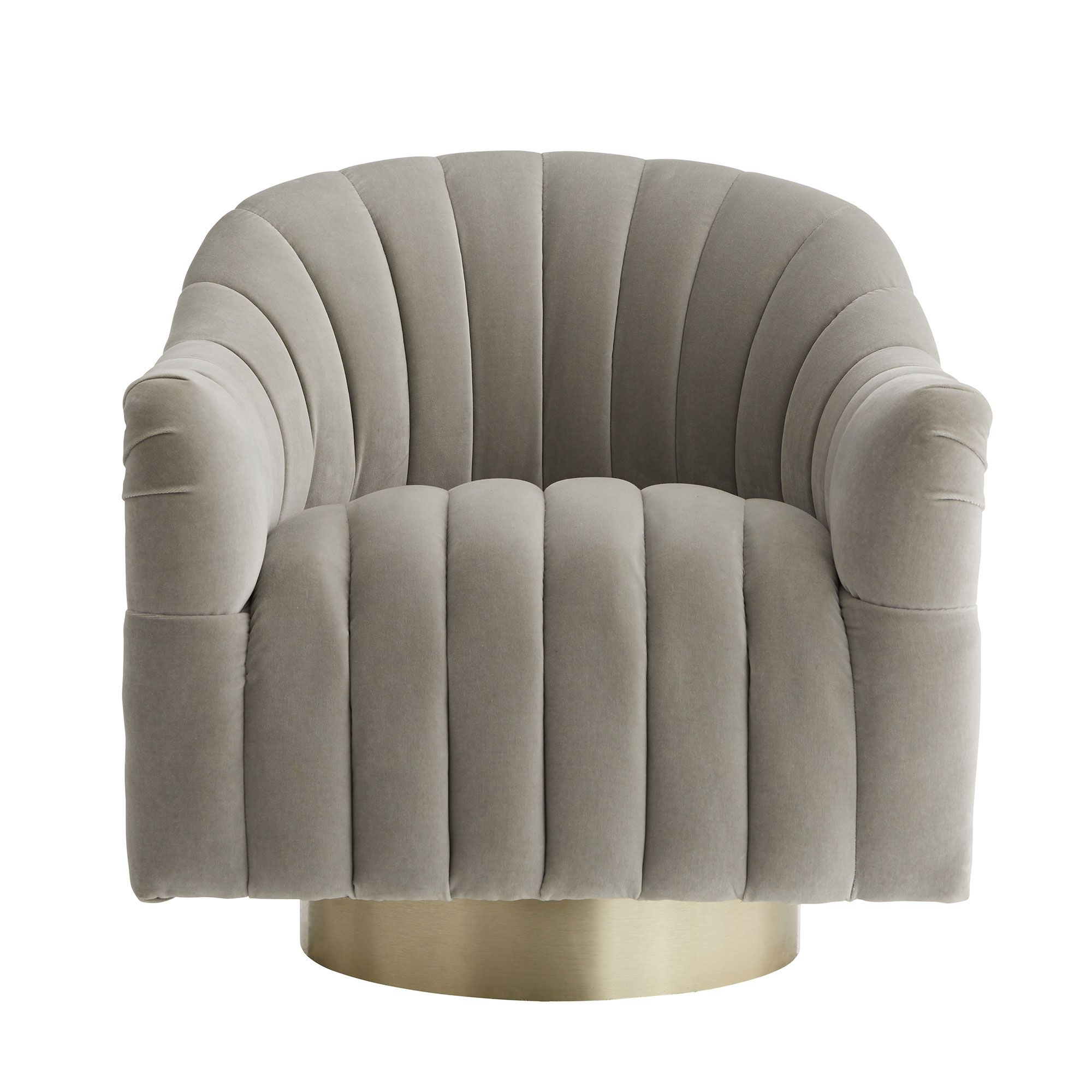 Springsteen Chair Flint Velvet Champagne Swivel