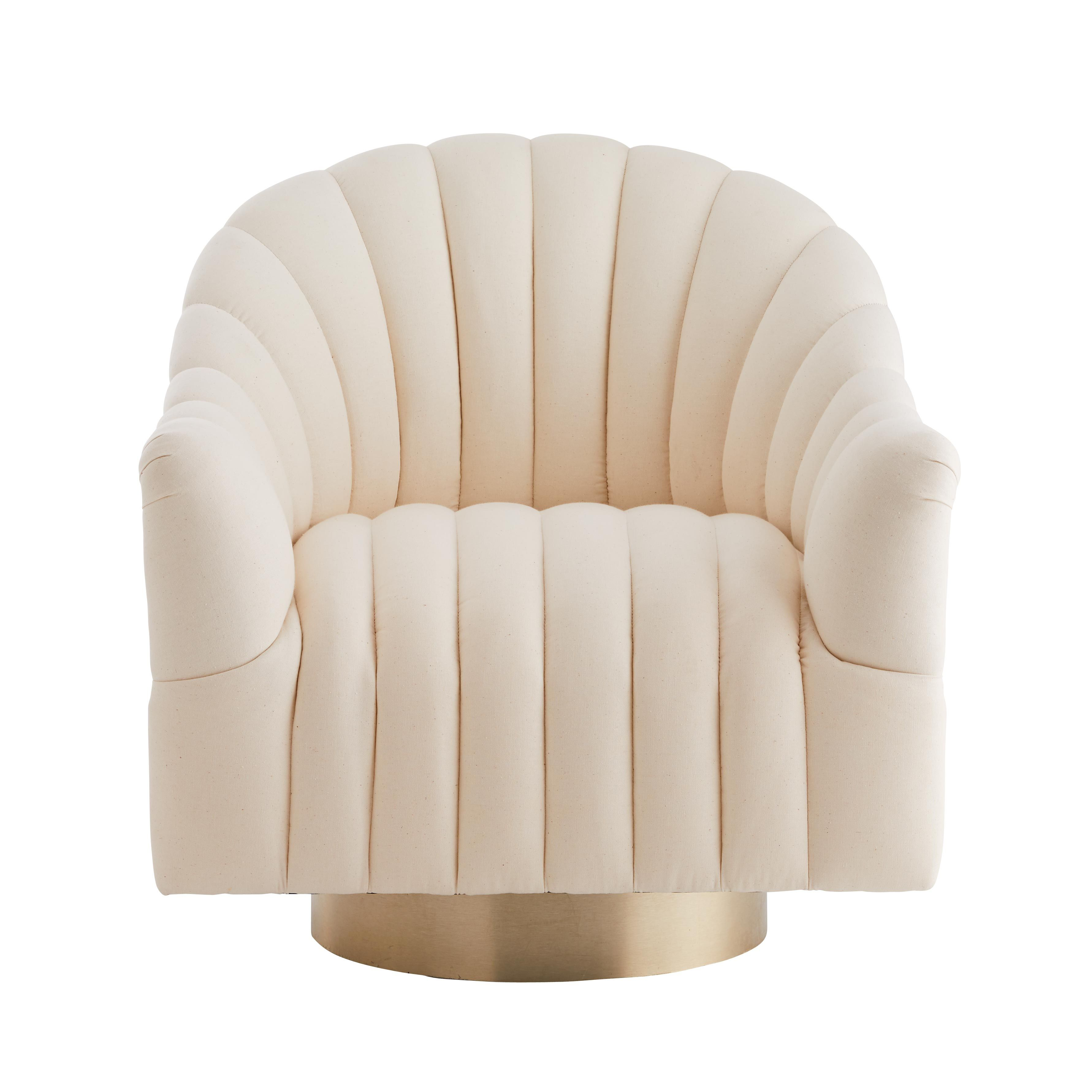 Springsteen Chair Muslin Champagne Swivel