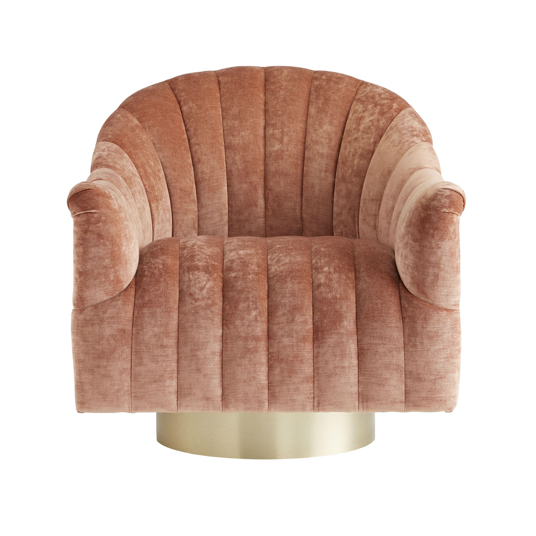 Springsteen Chair Dusty Rose Velvet Swivel