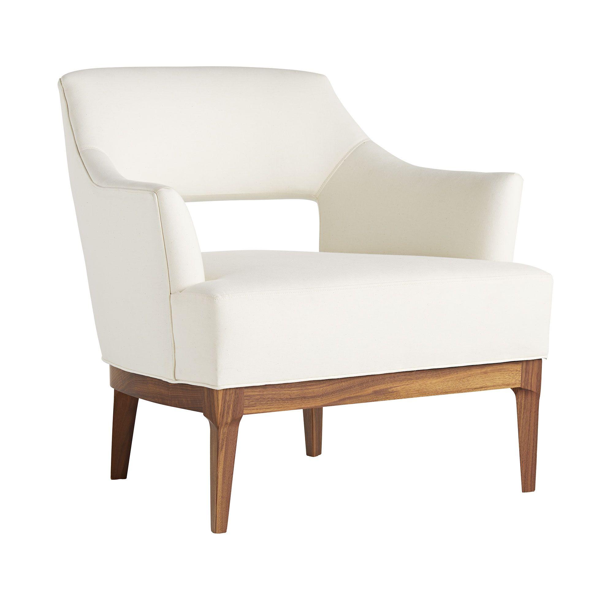 Laurette Chair Muslin Dark Walnut