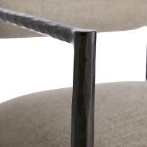 Barbana Counter Stool Pewter Texture