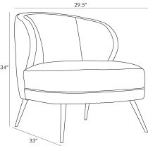 Kitts Chair Mineral Grey Leather