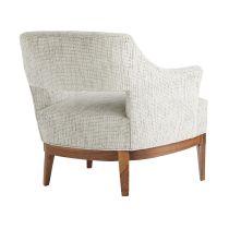 Laurette Chair Moonlight Grid Chenille Dark Walnut
