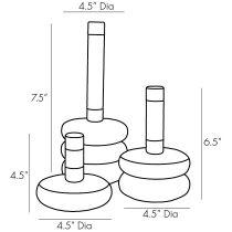 Glaze Candlesticks, Set of 3
