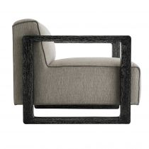 Duran Chair Fossil Tweed Black Cerused