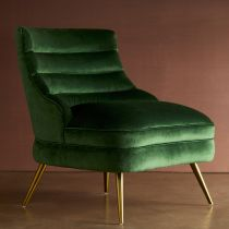 Dune Chair Emerald Velvet