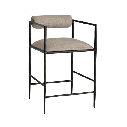 Barbana Counter Stool Pewter Texture