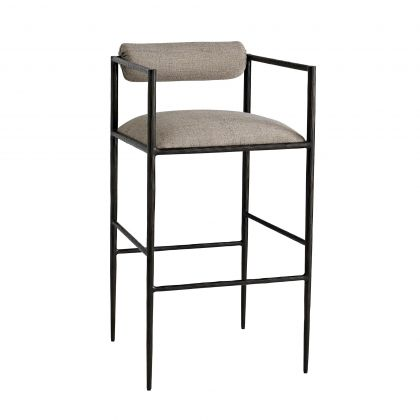 Barbana Bar Stool Pewter Texture
