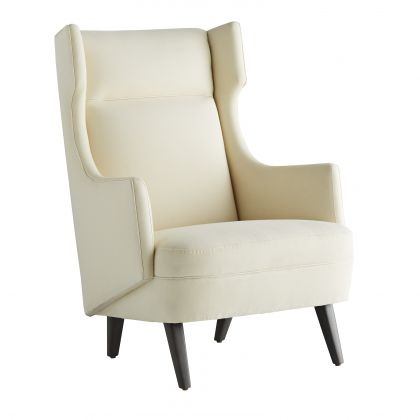 Budelli Wing Chair Muslin Grey Ash