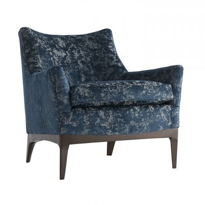 Ferguson Chair Peacock Chenille Walnut