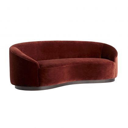 Turner Small Sofa, Paprika Velvet