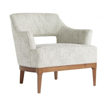 Laurette Chair Moonlight Grid Chenille Dark Walnut