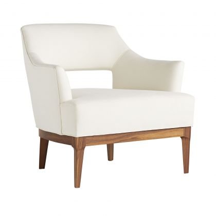 Laurette Chair Muslin Dark Walnut
