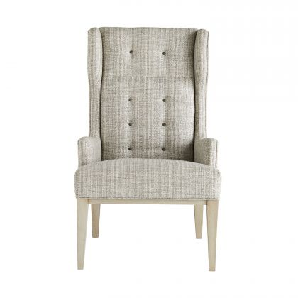Idol Wing Chair Platinum Tweed Smoke