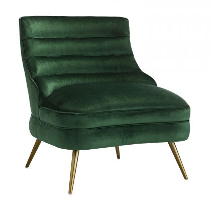 Dune Chair Emerald Velvet