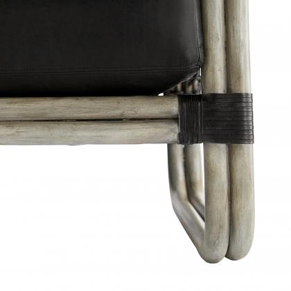 Tara Lounge Chair Noir Leather