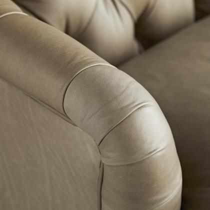 Klein Sofa Mushroom Leather Grey Ash