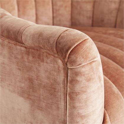 Springsteen Chair Dusty Rose Velvet Swivel