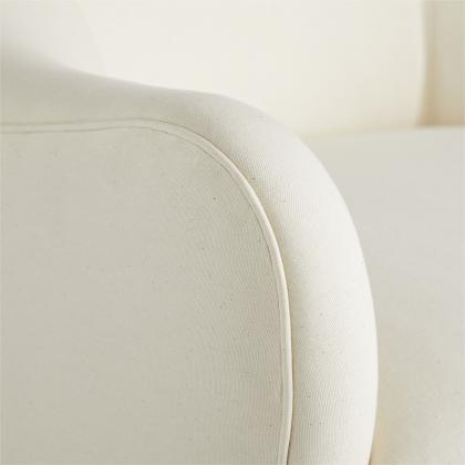 Delfino Chair Muslin Swivel