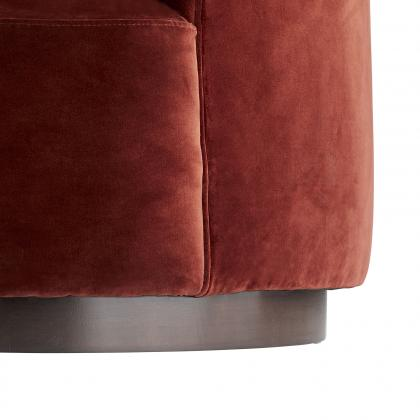 Turner Small Sofa Paprika Velvet