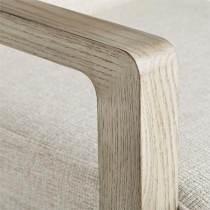 Duran Chair Fieldstone Grey Linen Smoke