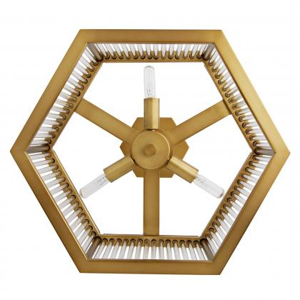 Hera Hexagon Flush Mount