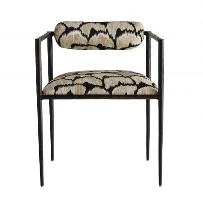 Barbana Chair Ocelot Embroidery