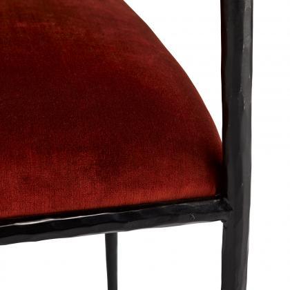 Barbana Chair Rust Velvet