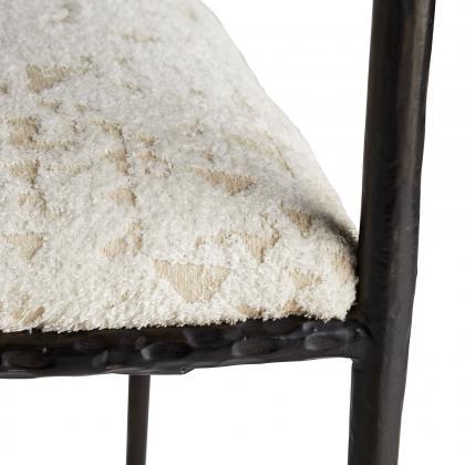 Barbana Chair Facet Cream Chenille