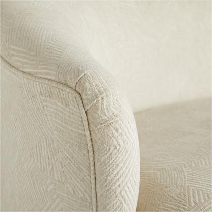 Duprey Settee Textured Ivory Grey Ash
