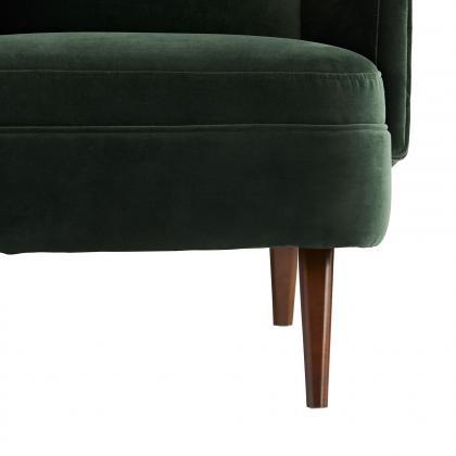 Budelli Wing Chair Forest Velvet