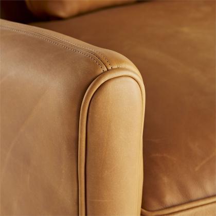 Vincent Sofa Butterscotch Leather Dark Walnut