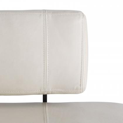 Tuck Bench Ivory Leather